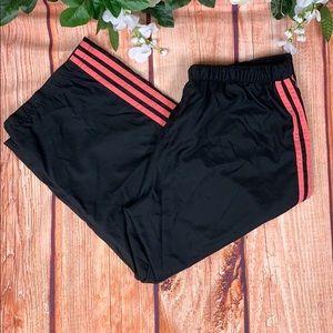 Adidas Black Cropped Jogger Drawstring Pants 1597